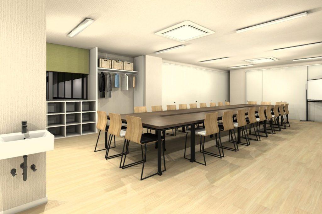 会議室テーブル天板カラー 濃い木目カラー②