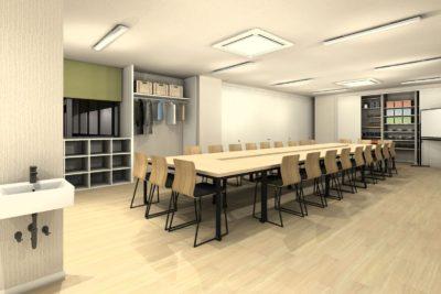会議室テーブル天板カラー 薄い木目カラー②