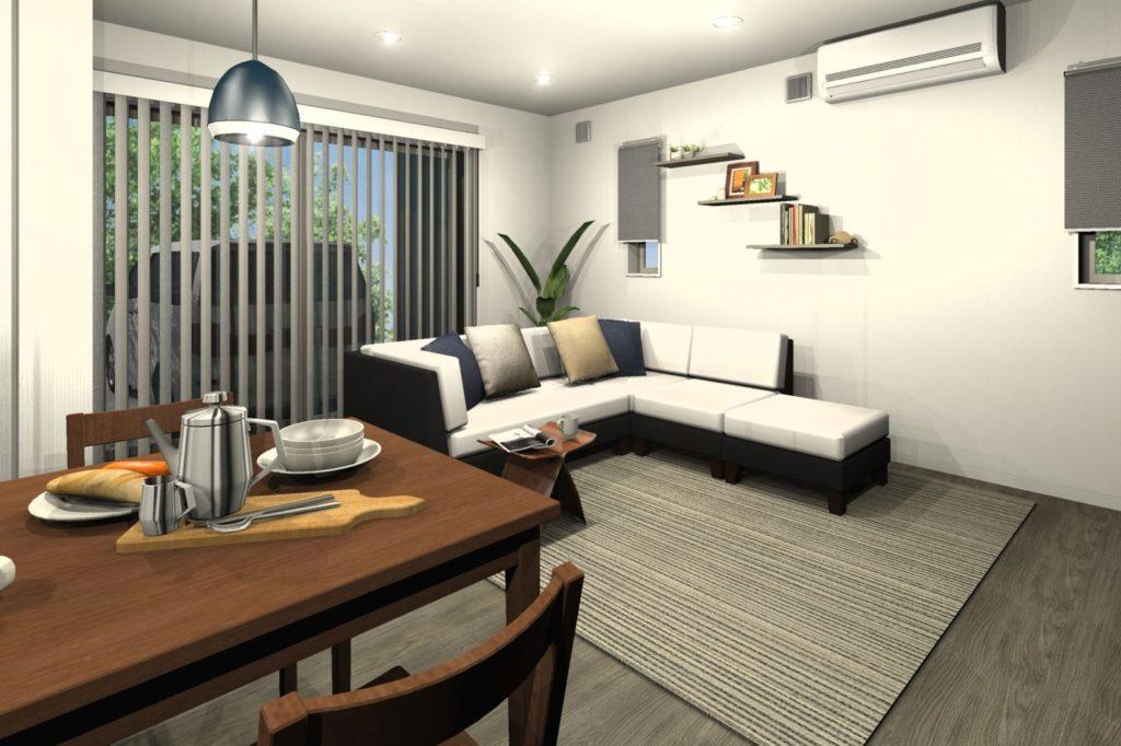 新築住宅 LDKトータルコーディネート グレイッシュカラー