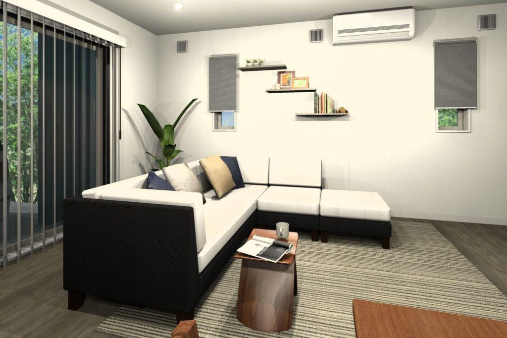 新築住宅 LDKトータルコーディネート 飾り棚