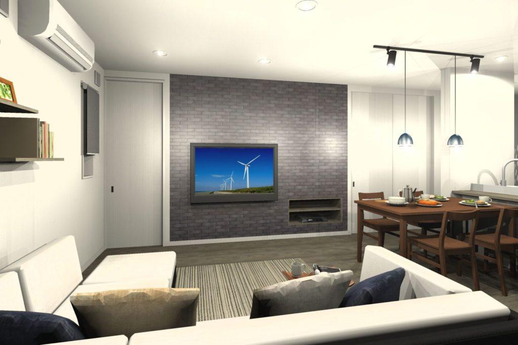 新築住宅 LDKトータルコーディネート 造作テレビボード