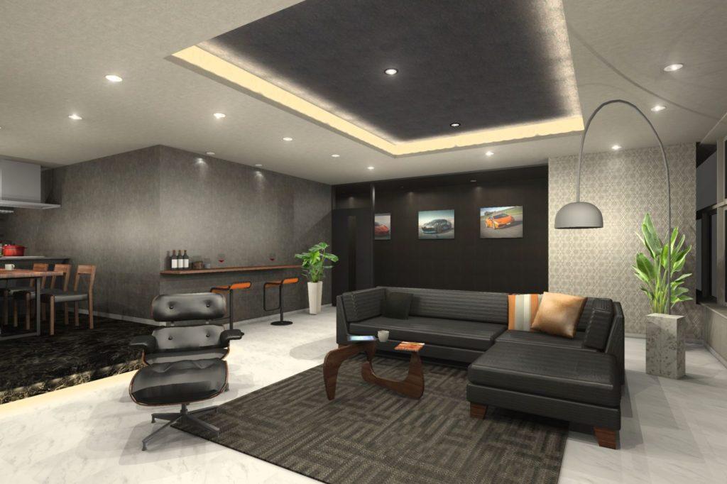 ビルリフォーム 大空間を居住リビングに大改修