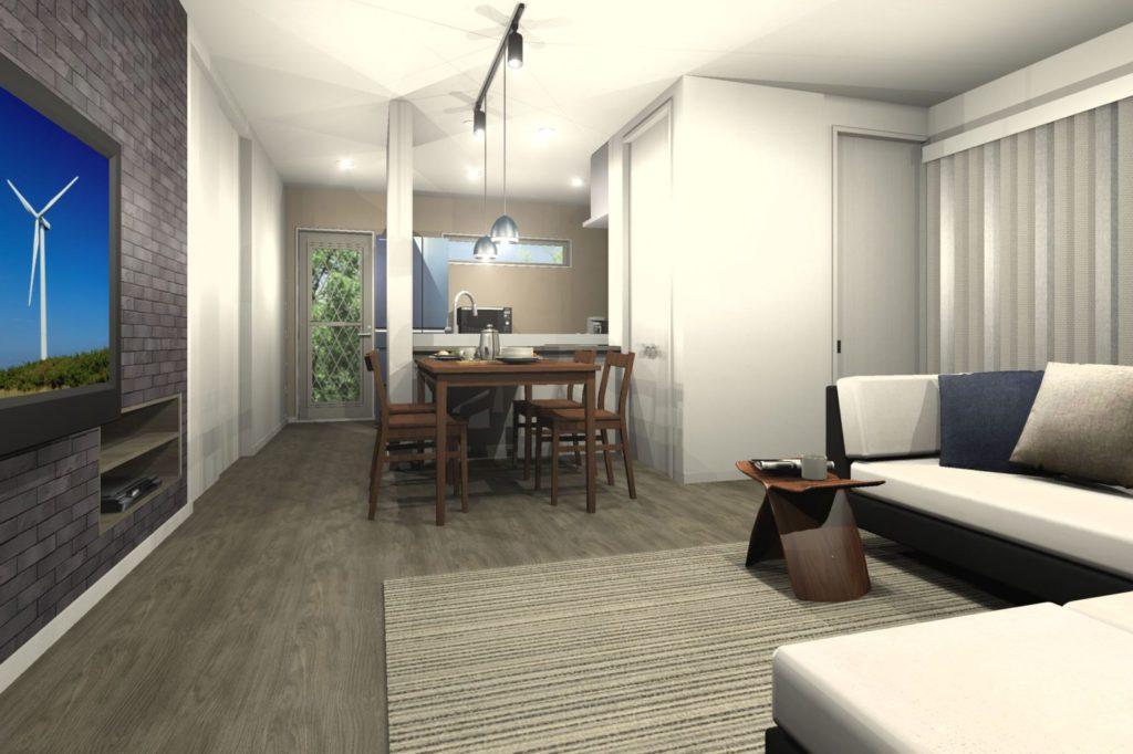 新築住宅 LDKトータルコーディネート 家事動線と家具レイアウト