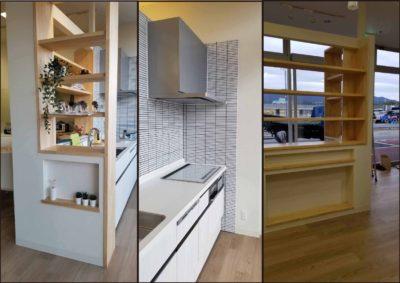 キッチン廻りの収納スペース 施工事例(after画像)