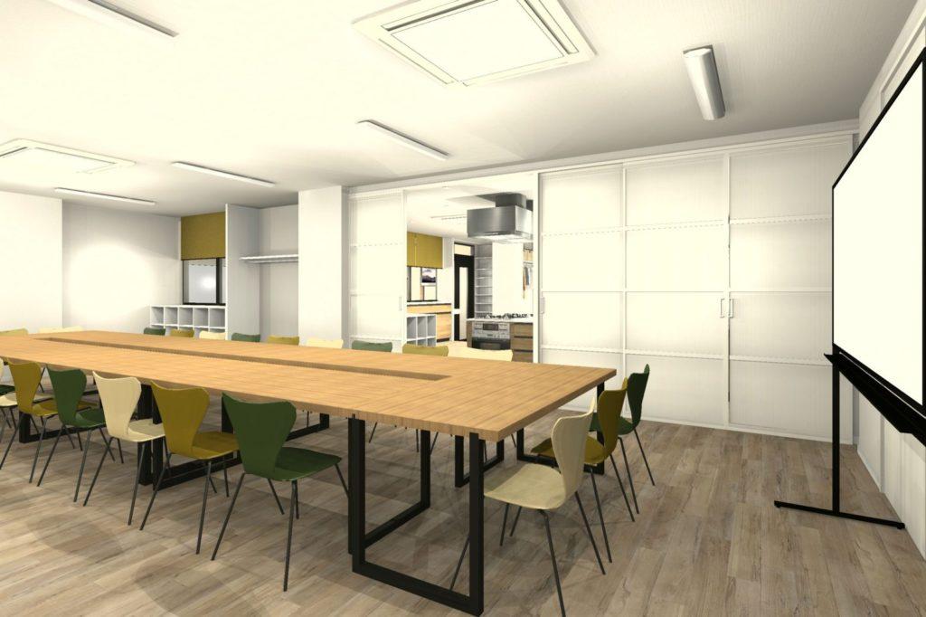 事務所を料理教室と会議室にリフォーム 会議室① 初回プラン