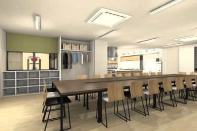 事務所を料理教室と会議室にリフォーム 会議室② 決定プラン