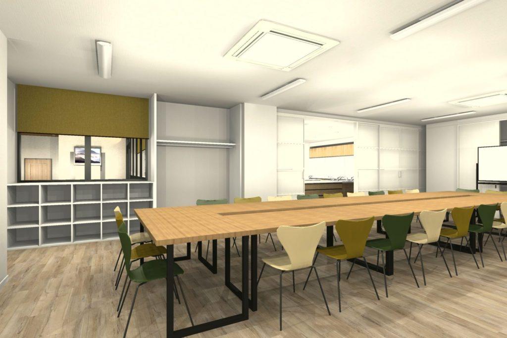 事務所を料理教室と会議室にリフォーム 会議室③ 初回プラン