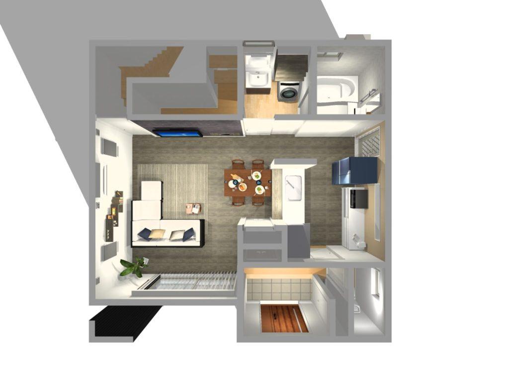 新築住宅 俯瞰図