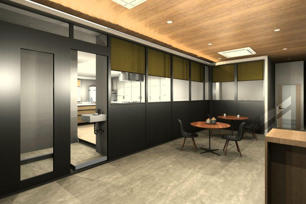 事務所を料理教室と会議室にリフォーム エントランスホール 初回プラン