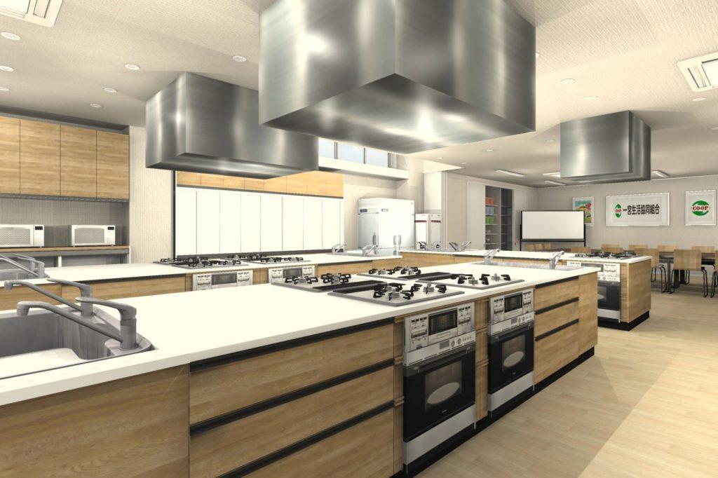 事務所を料理教室と会議室にリフォーム 料理教室① 決定プラン