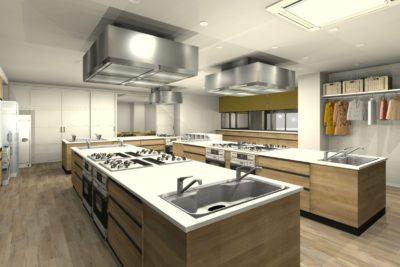事務所を料理教室と会議室にリフォーム 料理教室① 初回プラン