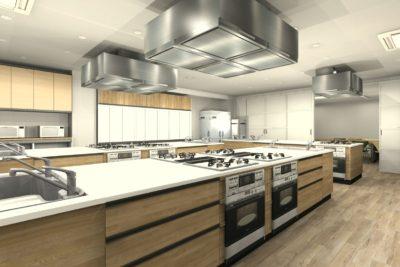 料理教室CADイメージパース
