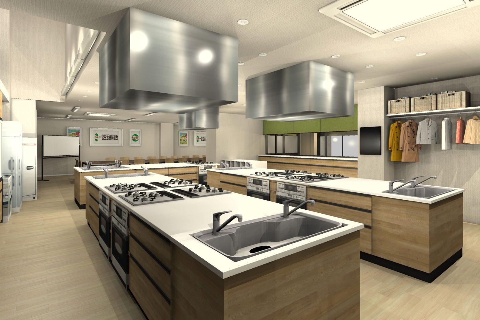 事務所を料理教室と会議室にリフォーム 料理教室② 決定プラン
