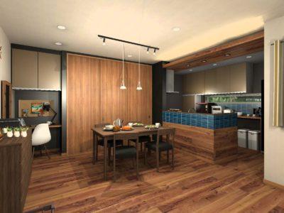 キッチン背面収納カラー提案 アーバン