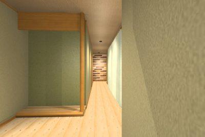 和住宅リフォーム 廊下クロス提案 イメージパース②