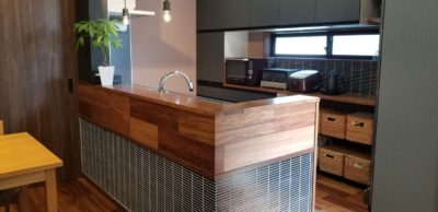 施工事例 増築リフォーム キッチン